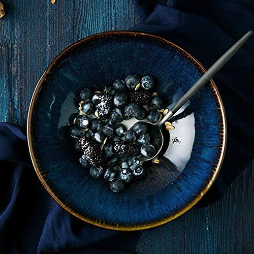 XXJ-Tazones Estilo japonés Vajilla Vintage Home Restaurant Ceramic Bowl Creativa Sopa Rice Bowl Ramen Bowls Accesorios de...