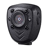 Wearable Body Mounted Camera,DEXILIO 1080P Mini Video Recorder with Night Vision, Small Camcorder for Home/Office/Law Enforcement/(Built-it 32GB Card)