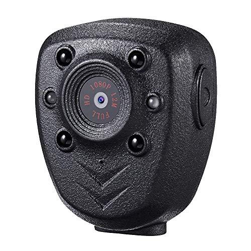 Cámara portátil montada en el Cuerpo, Mini videocámara DEXILIO 1080P con visión Nocturna, pequeña cámara Deportiva para Interiores y Exteriores, Tarjeta incorporada de 32 GB (sin WiFi)