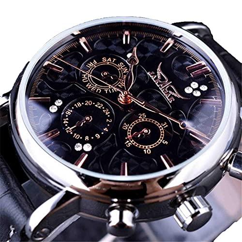 Excellent Relojes Moda Moda Mecánica Mecánica Hombres Reloj de Pulsera de Negocios a Prueba de Agua para Hombres,A03