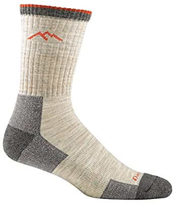 Darn Tough Vermont Hiker Merino Wool Micro Crew Socks Cushion Oatmeal LG (US 10-12)