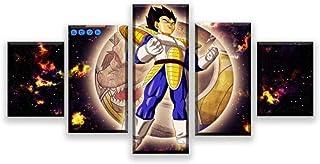 LJLSLH Decoración para el hogar 5 Paneles Goku Song Ultra Instinct Dragon Ball Z Videojuego Poster Wall Art Pictures Impresiones sobre Lienzo Sin Marco Talla B