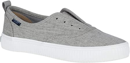 Sperry Top-Sider Crest Vibe Creeper Linen CVO Sneaker Women 10 Grey