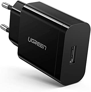 UGREEN Caricatore USB Quick Charge 3.0 Caricabatterie USB FCP Carica Rapida 18W 5V 3A Compatible with Samsung S20 A8 Huawe...