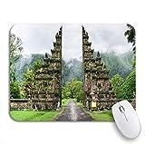 Adowyee Alfombrilla de ratón para juegos Temporada de lluvias en Bali Indonesia Después de la lluvia Montañas Alfombrilla de ratón antideslizante con respaldo de goma para ordenadores portátiles Alfom