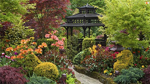 Yqgdss Black Gazebo In The Garden Teenagers Jigsaws 300 Pieces Teenagers-Space Jigsaw Puzzlesfun And Difficultchallenge Puzzle