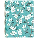Planner 2021-2022 - Academic Weekly & Monthly Planner with Tabs, 8' x 10', July 2021 - June 2022, Contacts + Calendar + Holidays, Twin-Wire Binding with Thick Paper - Teal Floral