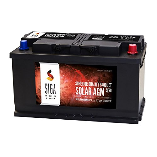 SIGA Blei Akku 12V 90Ah AGM Gel Batterie Solarbatterie Wohnmobil Mover Boot Versorgungsbatterie