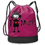 MINISA I Love Music Txt Girl トレッキング リュック バンドルバックパック 軽量 カジュアル 登山 旅行 遠足 アウトドア キャンプ 子供 通勤 通学 プレゼント 大容量 男女兼用