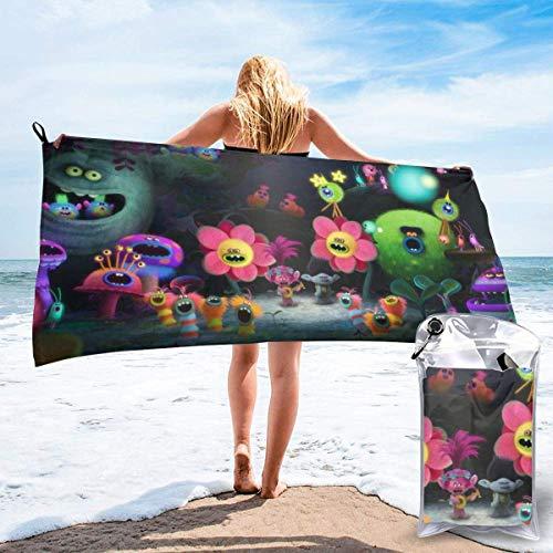 chenjian Trolls Toalla de baño de secado rápido suave toalla de playa para viajes, camping, gimnasio, piscina, sillas de playa