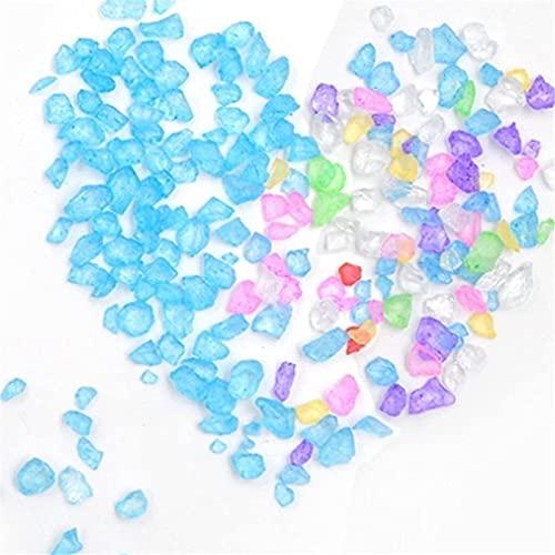 JIEERCUN Cuentas de Vidrio de Playa 300pcs Bricolaje Relleno de epoxi de Cristal UV Glue Insertar Cristal de Cristal de Cristal de Vidrio de mar Joyas (Color : Multi-Colored)