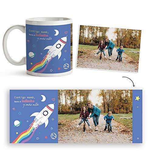 Fotoprix Taza Personalizada con Foto para Mamá | Regalo Original día de la Madre | Varios diseños Disponibles. (Diseño: Madre 3)