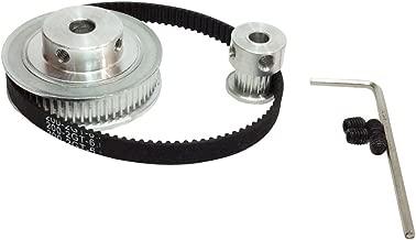 2GT Timing Belt&Pulley BEMONOC HTD Kits GT2 Timing Belt Closed-loop 200mm Pulley 20 Teeth and 60 Teeth for 3D Printer Accessories