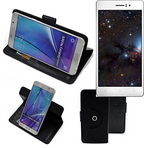 K-S-Trade® Handy Hülle Für Oppo R5 Flipcase Smartphone Cover Handy Schutz Bookstyle Schwarz (1x)