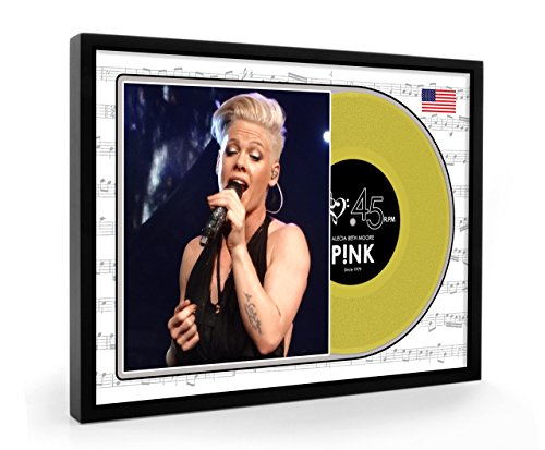 Pink P!nk Framed Goldene Schallplatte Display Premium Edition (O)