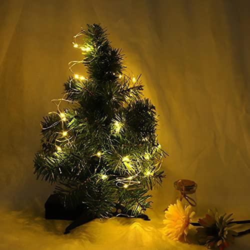SALUTUYA Cadena de Luces de Alambre de Cobre, Rica en Colores, Cadena LED Blanca cálida, Peso Ligero de 6 m para Adornos Interiores de Dormitorio para decoración Festiva de Bodas