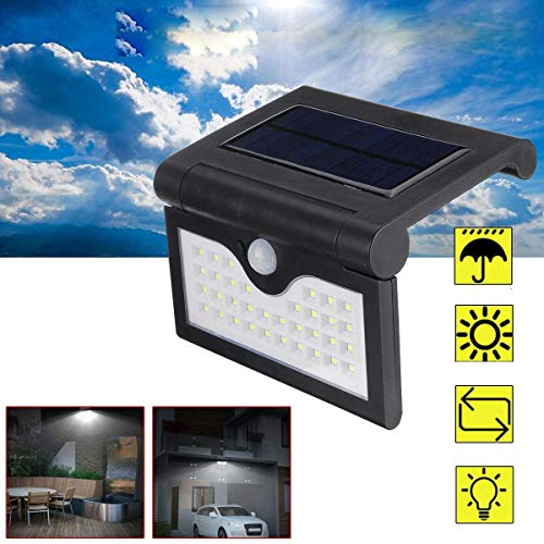 CKQ-KQ Buitenverlichting op zonne-energie 34 LED Light Outdoor PIR Motion Sensor Waterdichte Lamp waterdichte Lamp