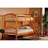 InRoom Designs Twin Over Twin Arched Bunk Bed Finish: Honey Oak