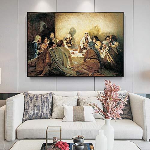 sanzangtang Puzzle 1000 Pezzi L'Ultima Cena di Gesù e dei Suoi discepoli Doni creativi per Bambini, Giochi rompicapo regali75x50cm(30x20inch)