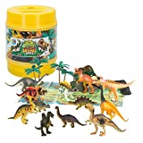 ColorBaby - Bote con dinosaurios Animal World - 17 piezas