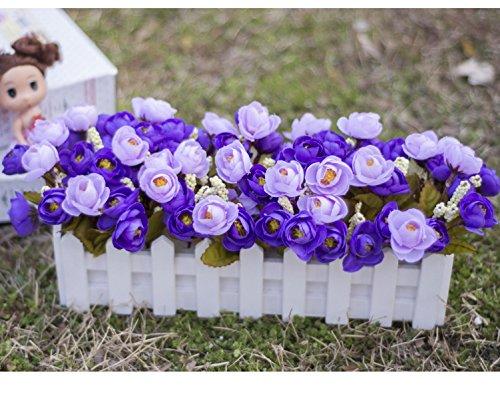 2018 Decoratieve bloemen kunstige zijde mini bloemen en planten voor indoor decoratie (zeer veel kleur) in een pot fake hanging wijnplanten bladeren slinger huis tuin muur gegoten 50 cm, C