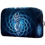 Neceseres para Maquillaje de niños dragón Azul Animales Bonitos Bolsa de Almacenamiento de Viaje de Impresa Personalizada 18.5x7.5x13cm