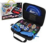 Bey Battling Top Burst Launcher Grip Juego de cuchillas de juguete, caja de almacenamiento de juegos 8 giroscopios de ráfaga superior, 3 lanzadores, gran regalo de cumpleaños para niños y niños