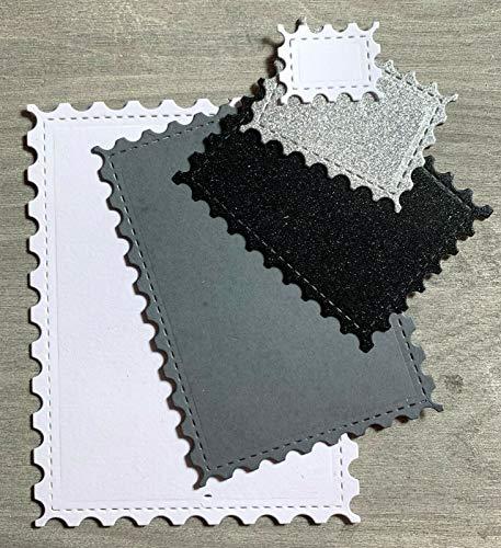 Simplelettering Stanzschablone/Cutting Dies Briefmarken, Ticket Set, Stamp, 5 STK, bis 9x12 cm