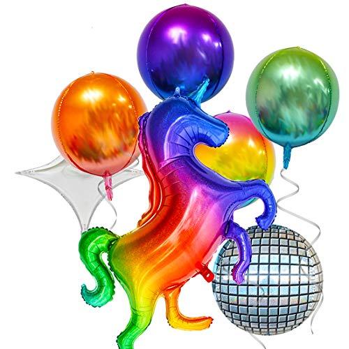 CHEPL 7pcs Globos Unicornio Cumpleaños,Grande Globos para La Boda Aniversario,Fiesta Cumpleaños Infantil Globo Cumpleaños Fiesta Decoración