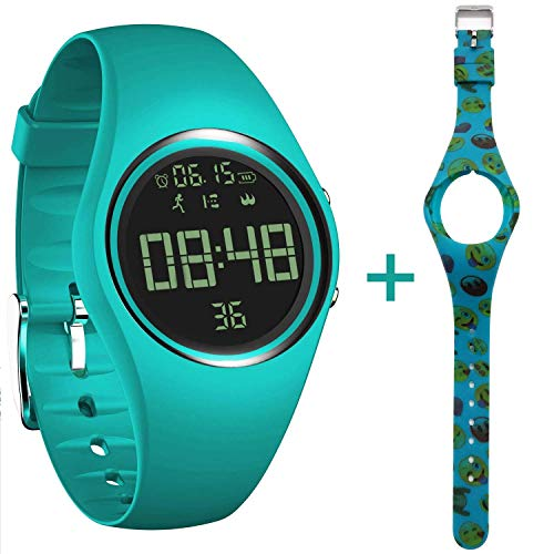 feifuns 3D Non-Bluetooth Pedometer Watch Sport Wristband IP68 Swimming Water-Resistant Fitness Tracker with Track Steps/Distance/Calorie/Clock/Timer for Walking Running Kids Men Women with Extra Band