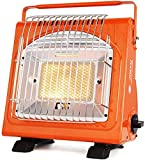 FDSAD Propane Heaters Indoor, 1.7kw Camping Heater Portable Handle Space Heater for Heating,Boiling...