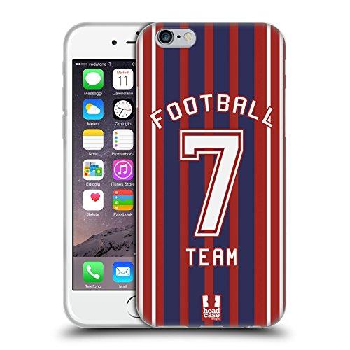 Head Case Designs Calcio Maglia Sportiva Cover in Morbido Gel e Sfondo di Design Abbinato Compatibile con Apple iPhone 6 / iPhone 6s