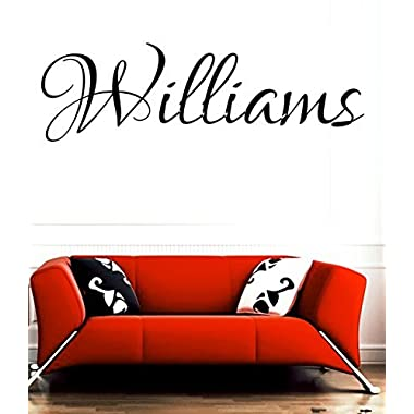 HUANYI Williams family name Last Name girl name or boy name room name wall quote art vinyl decal sticker