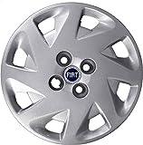 Aftermarket - Juego de 4tapacubos para ruedas de 14 pulgadas (35,56 cm) - Para Fiat Punto a partir del 1999 - Logotipo de color azul (producto no original)