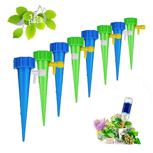 JIASHA Automatisch Bewässerung Set,15 Stück Einstellbar Bewässerungssystem zur Pflanzen Bewässerung Blumen Bewässerung Zimmerpflanze Bewässerung Ideal Wasserversorgung Während Ihrem Urlaub