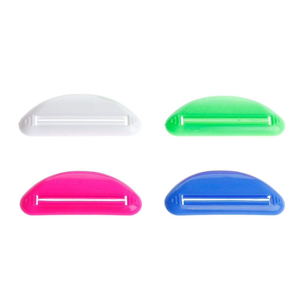 ドーム強打上下するLamdooプラスチックチューブスクイーザー歯磨き粉ディスペンサーホルダーローリング浴室ツールポータブルランダム配信