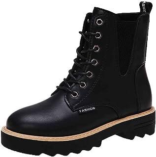 ZOSYNS Dames veterlaarzen winter sneeuwlaarzen korte laarzen mode casual comfortabele antislip ademende binnenvoering wint...