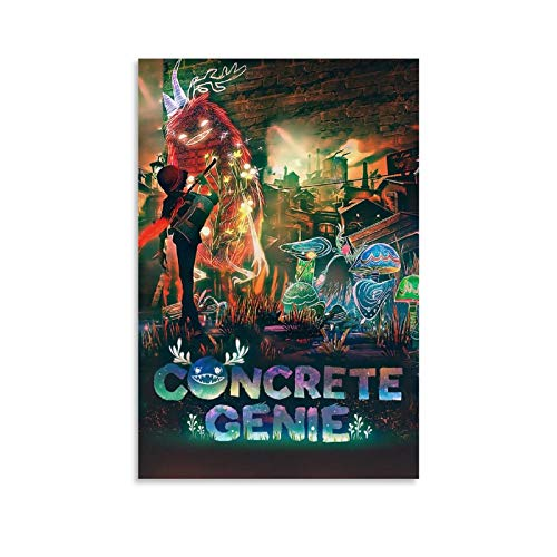 DFTG Concrete Genie Game Poster Poster Decorative Painting Canvas Wall Art Living Room Posters Bedroom Painting 08x12inch(20x30cm)