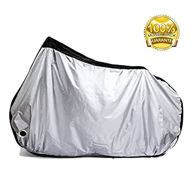 Bike Cover - Waterproof Bike Cover - UV Proof 50+ Bike Cover - Indoor & Outdoor Use Motor Bike Cover with Lock Hole & Securing Buckle for Most Bikes, Motorcycles,Scooters by LETMY(XL)