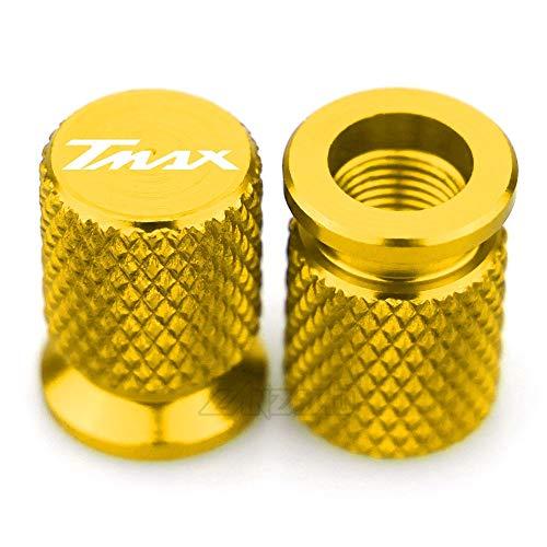 VRDN de alta calidad TMAX CNC Válvula de neumático de aluminio Válvula de aire CAP DE CAP DE MOTORCOCLETAS PARA YA.MA.HA TMAX T-MAX 530 2013 2014 2015 2016 2017 2017 2018 100% nuevo (Color : Gold)
