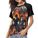 Black Veil Brides Set The World On Fire Womens Baseball T Shirt Short Sleeve Crew Neck T-Shirt