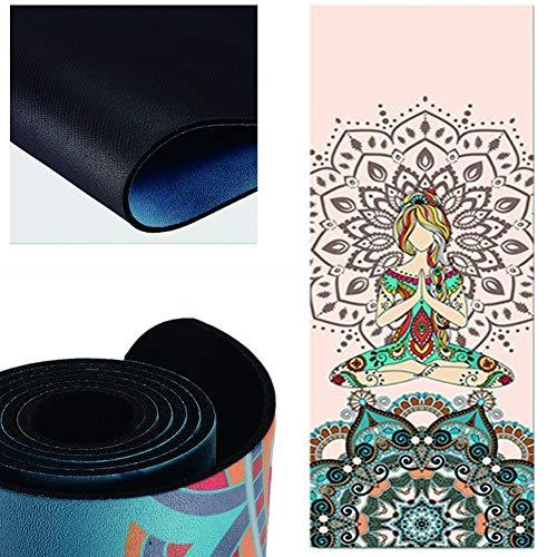 Yoga-Matte, Gummi, rutschfest, leicht und kompakt, kann Carry Mehrzweck Pilates, Sit-ups, Dehnen, Push-ups, Haus, Gym-perfekt for Männer, Frauen und Kinder.183cmx61cmx0.5cm (Color : C)