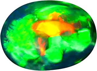 4.68 ct Oval Cabochon Cut (15 x 11 mm) Ethiopian Play of Colors Black Opal Loose Gemstone
