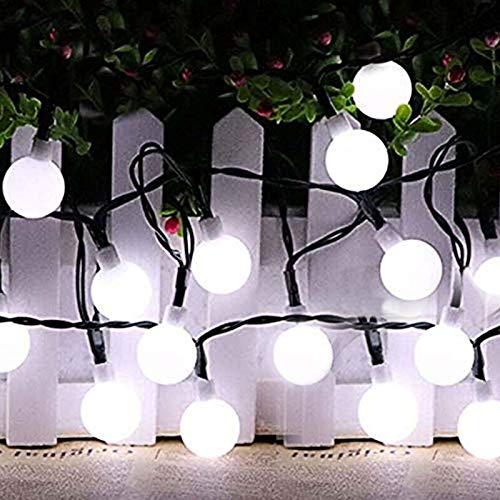 FANSIR Solar String Lights Garden, 23ft 50 LED Globe String Lights Outdoor Solar Powered Fairy Lights Waterproof 8 Modes Mini Ball Decorative Light for Garden Patio Yard Home Party, Cool White