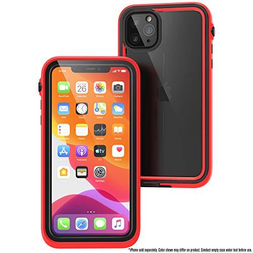 Catalyst wasserdichte Hülle für iPhone 11 Pro Max mit Lanyard, Standard-Militärqualität, 10 m wasserdicht, 2 m sturzfest, Displayschutzfolie, für iPhone 11 Pro Max - Rot