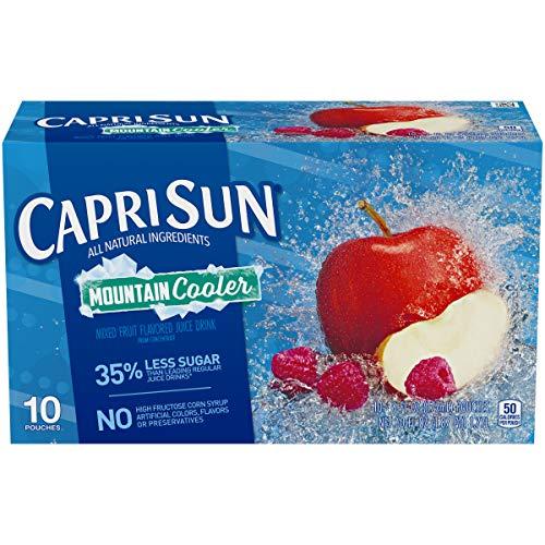 Capri Sun Mountain Cooler Mixed Fruit Flavored Juice Drink, 10 ct - Pouches, 60.0 fl oz Box