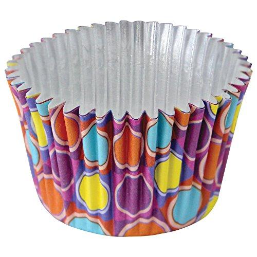 PME Bright Bubbles folie gevoerde Bakkoffers voor Cupcakes, standaard grootte met diepere vulling, pak van 30