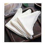 4 Piezas De Muselina Suave De Algodón Puro Tela De Gasa Para Tofu Paños De Cocina Paños Para Vaporizar Paño De Filtro De Calidad Alimentaria,45x45cm