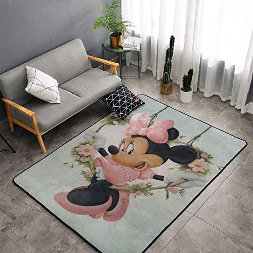 XIAODONG Mickey Mouse Minnie Super weicher Teppich Gemütliche Kunstdekoration Polyester Teppich für Wohnzimmer Schlafzimmer Küche Schlafzimmer für Kinder Bereich Teppich 152,4 x 99,9 cm
