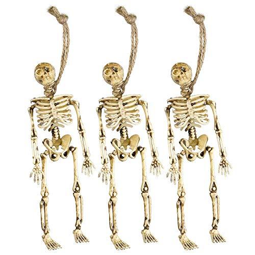 Widmann 6878D 3 Skelette, Unisex– Erwachsene, Beige, 15 cm